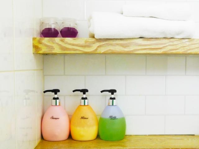 お風呂にあるシャンプーやボディソープ