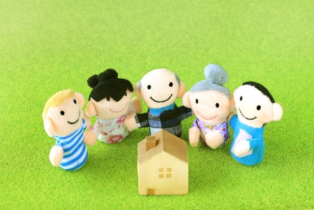 家族と家のおもちゃ