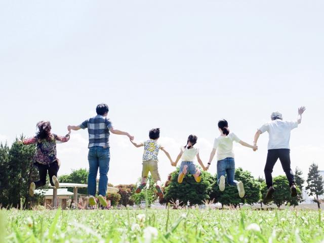 家族でジャンプ