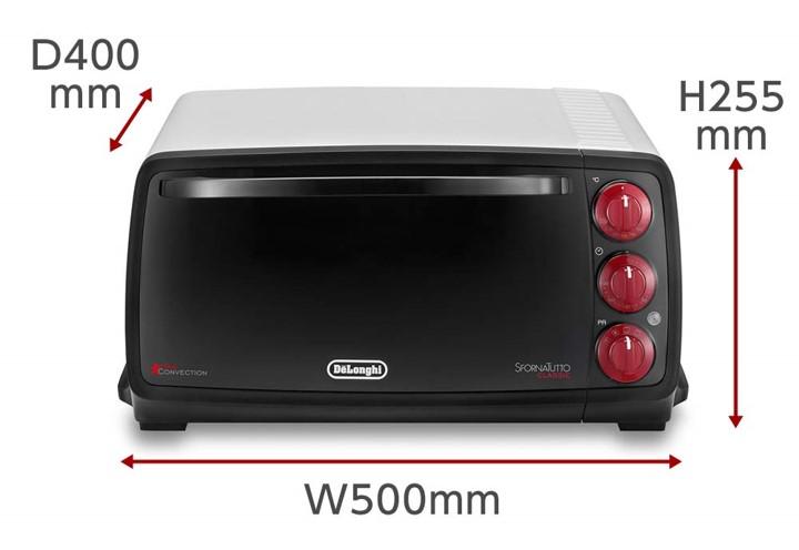 コンベクションオーブン スフォルナトゥット・クラシック EO14902J-WNの大きさ