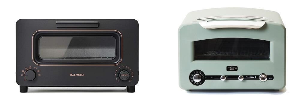 バルミューダとアラジントースター4枚焼きを比較
