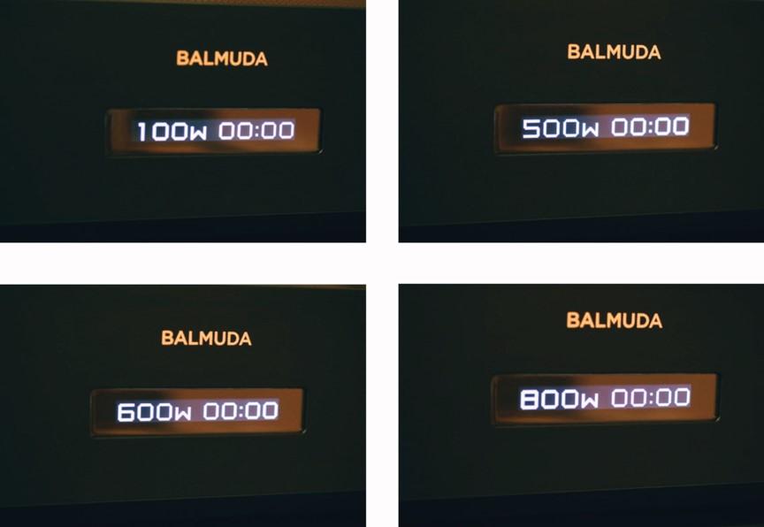 バルミューダ ザ・レンジのマニュアルモード