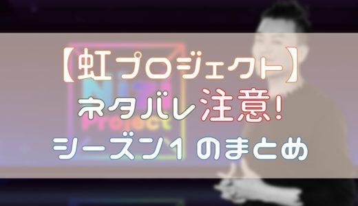 【ネタバレ】虹プロジェクト合格者と順位結果!シーズン1まとめ!