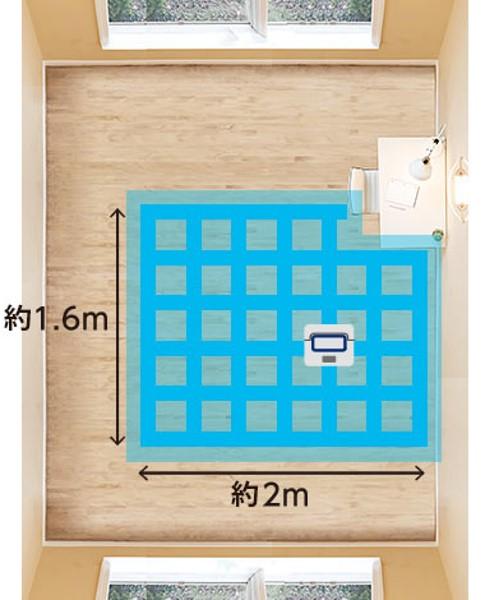 床拭きロボットのローランのスポットモード説明