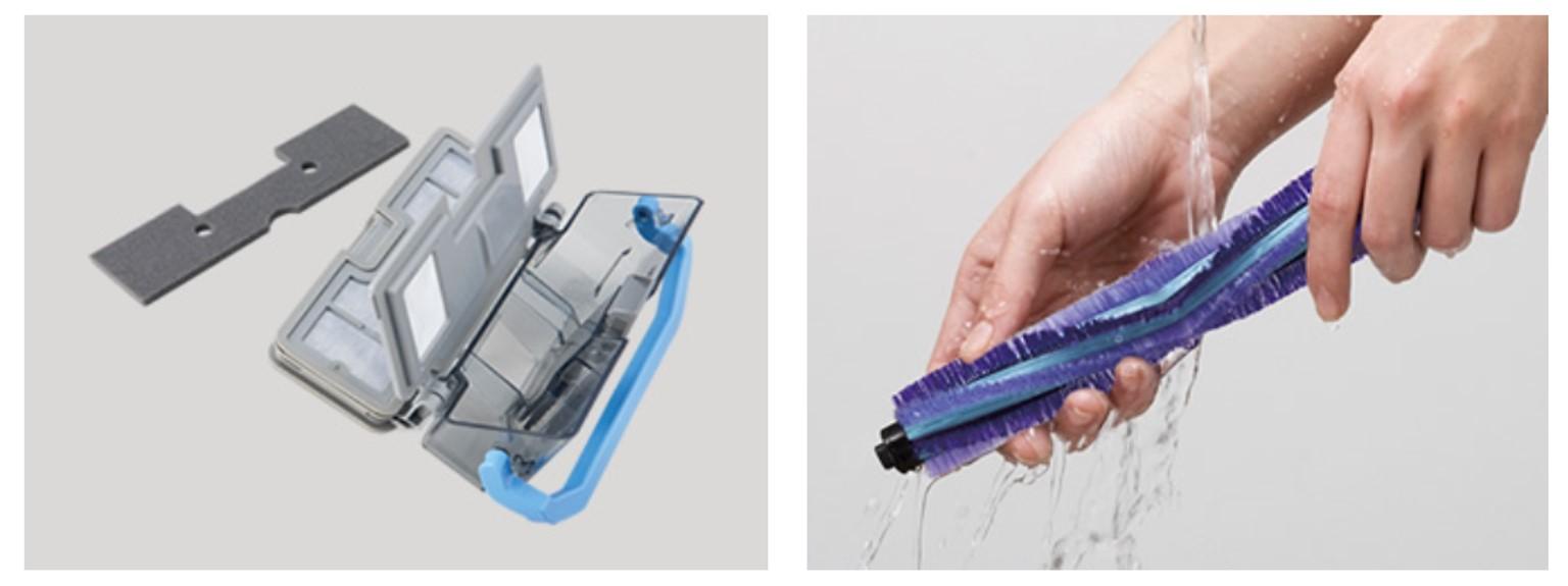 MC-RS520のダストボックス、フィルター、ブラシの水洗いについて