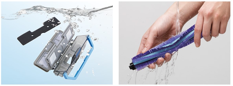 MC-RSF1000のダストボックスやフィルター、ブラシの水洗いについて