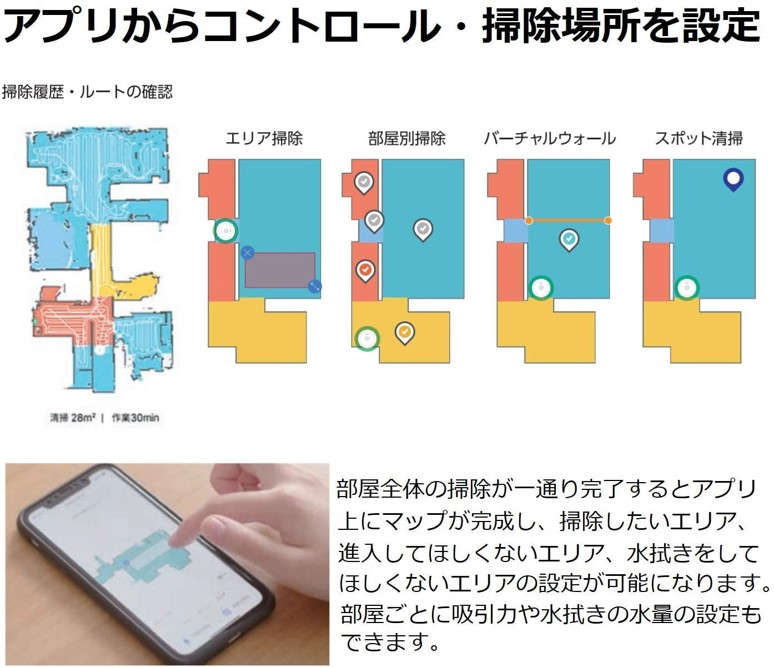 Roborock S6 MaxVのアプリ操作について