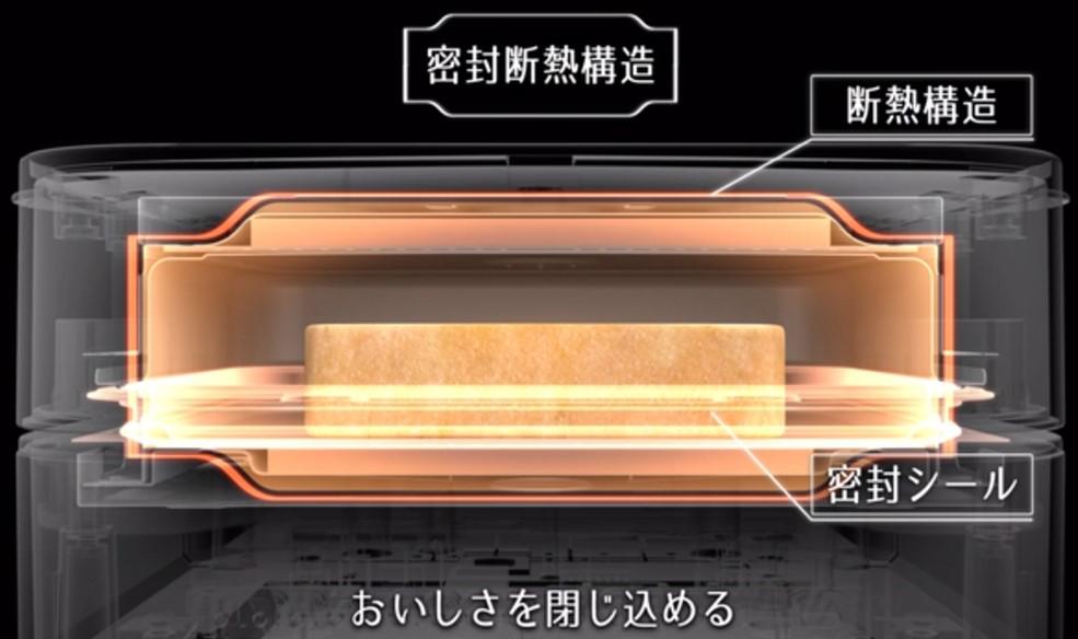 三菱ブレッドオーブンの密封断熱構造