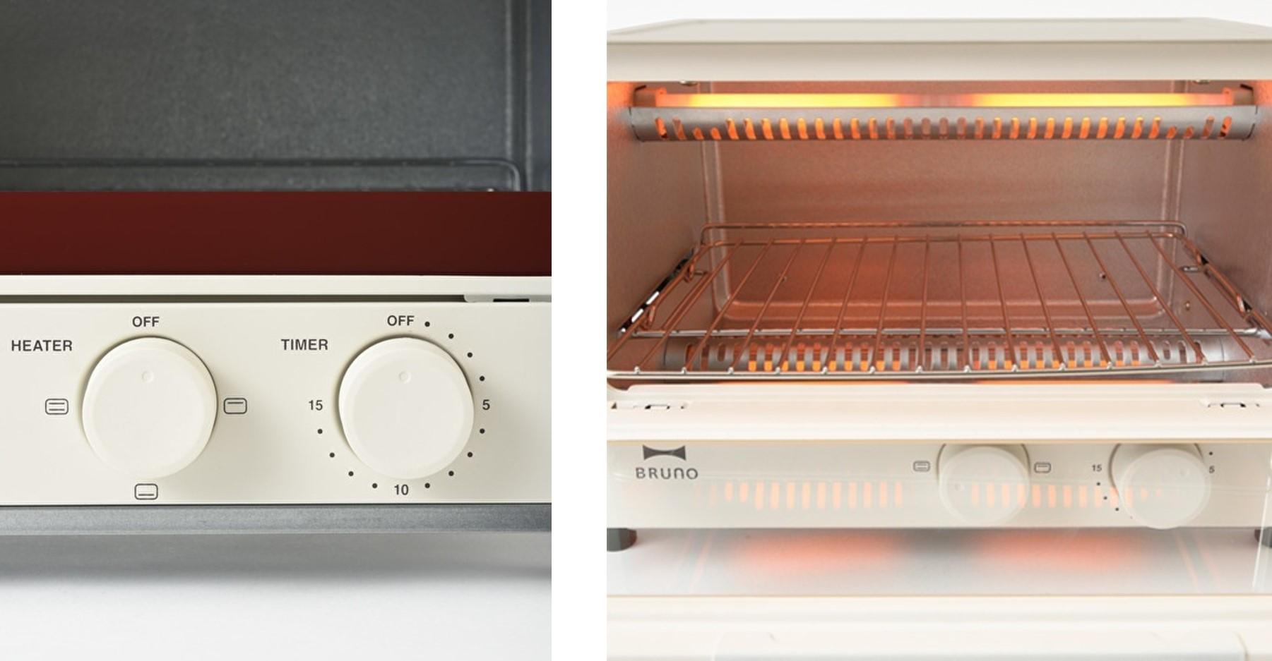 ブルーノオーブントースターの使い方について