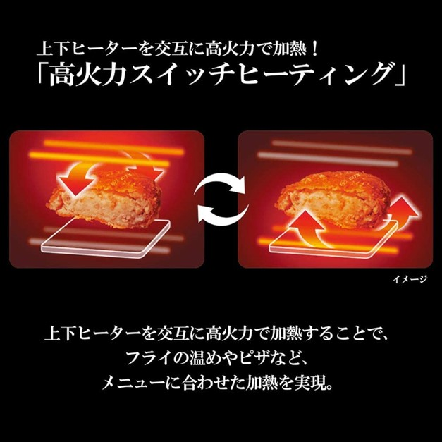 象印こんがり倶楽部「EQ-JA22」の高火力スイッチヒーティングについて