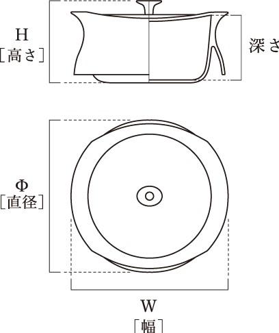 ベストポット25cm(2.7L) shallowの寸法