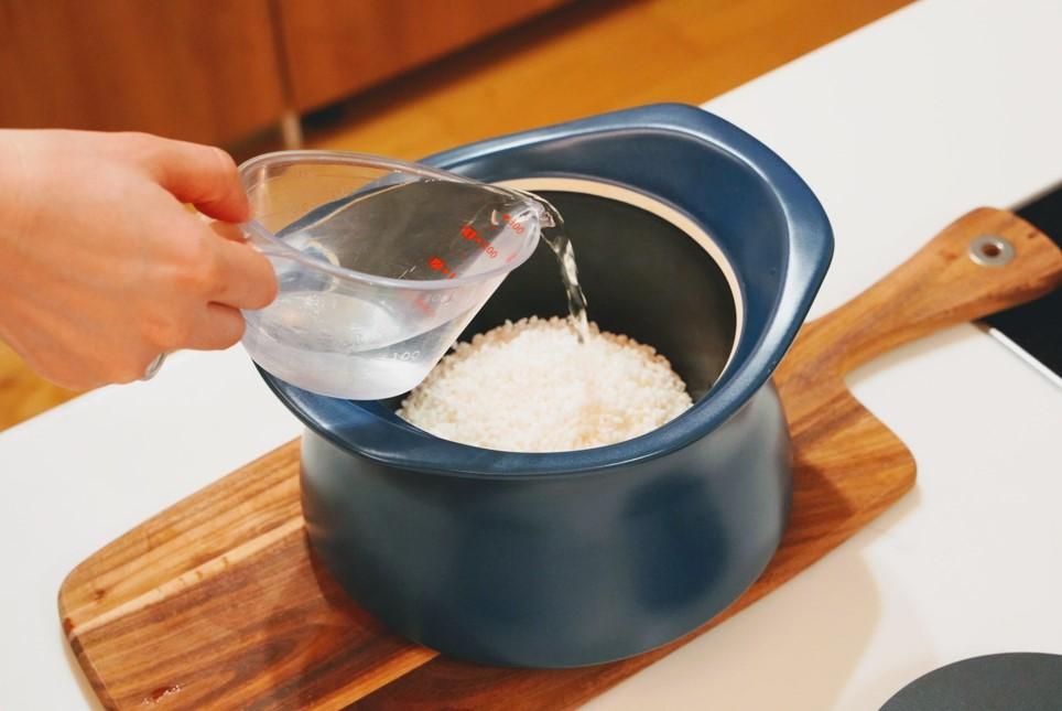 ベストポットでお米を炊く