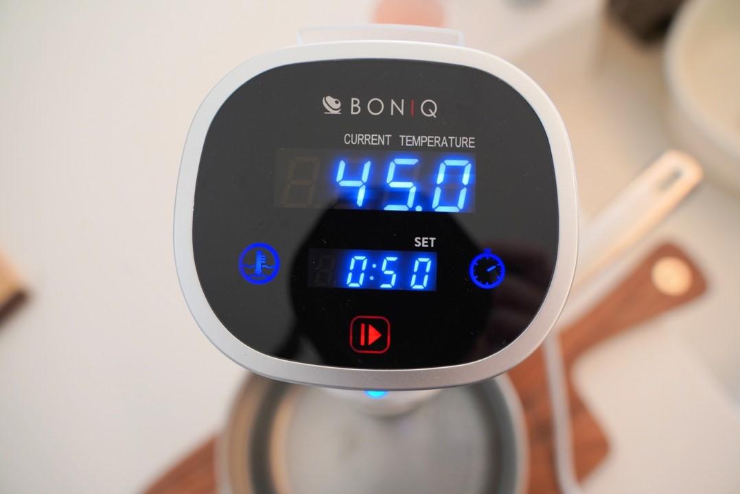 ボニークの温度と時間を設定