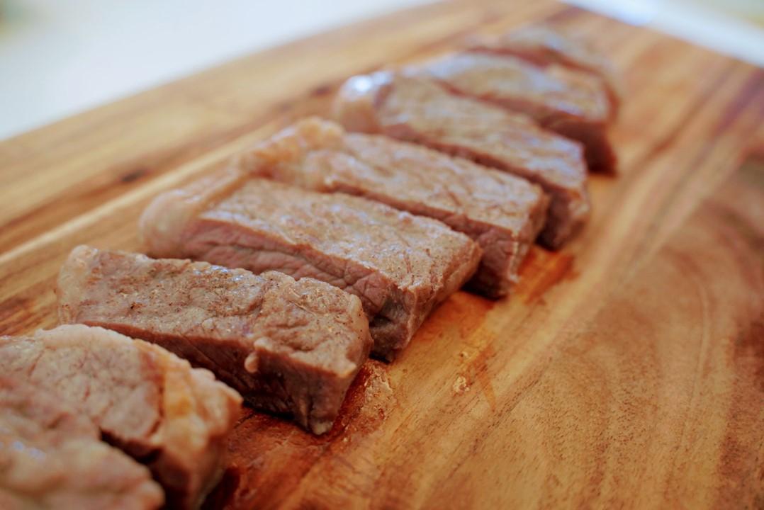 ボニークで作ったステーキ